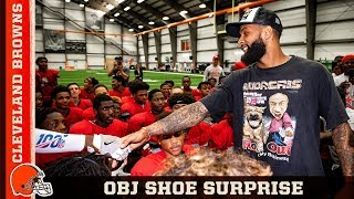 OBJ Surprises Chaney HS Football Team w/ New Nikes | Cleveland Browns