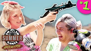 PUNISHMENT ZOMBIE SHOOTOUT | Smosh Summer Games: Apocalypse