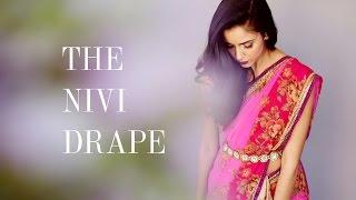 Little Black Sari - How to drape a sari (the Nivi drape)