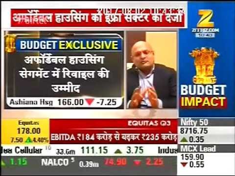 Budget Impact on Affordable Housing, Zee Business with Mr. Vishal Gupta, MD - Ashiana Housing