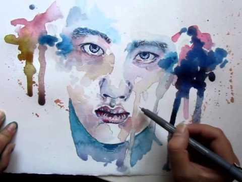 ' A Blue Psycho ' _ Kyungsoo , D.O ( EXO ) - Speed Painting / Fan Art