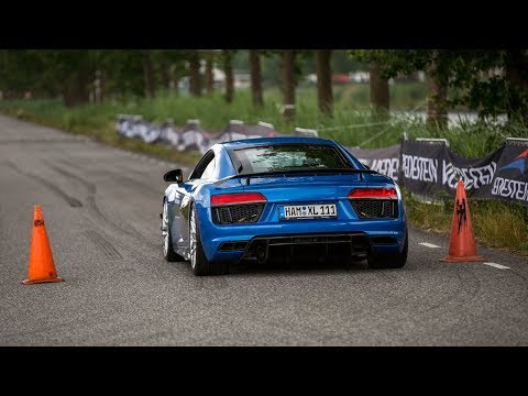 Audi R8 V10 Plus with Capristo Exhaust - LOUD Revs & Accelerations