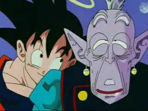 Goku soborna al Supremo Kaio