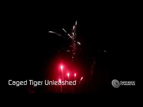 Total FX Caged Tiger Unleashed - 112 shot firework