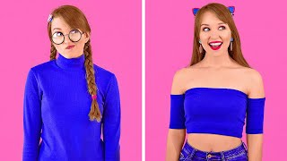 COOL DIY CLOTHES HACKS || Girly Clothes Transformation Ideas by 123 GO!