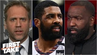 Max Kellerman agrees with Kendrick Perkins: 'Kyrie Irving is a bad leader' | First Take