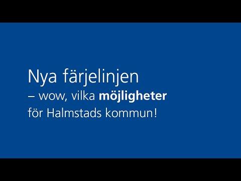 Nya färjelinjen - wow, vilka möjligheter för Halmstads kommun!