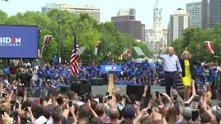 WATCH: Joe Biden holds first official presidential campaign rally in Philadelphia