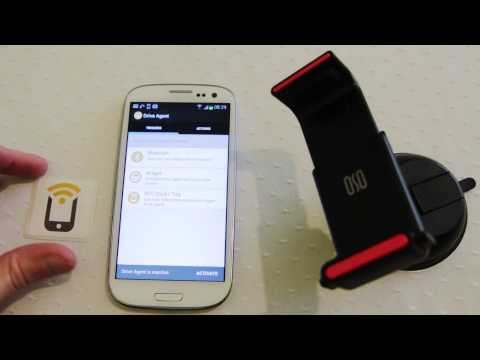 NFC Drive Agent Android app by TagStand prevent driver distraction - Practical NFC