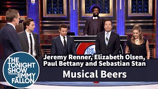 Musical Beers with Jeremy Renner, Elizabeth Olsen, Paul Bettany and Sebastian Stan
