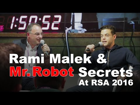 Rami Malek Interview & Mr. Robot Secrets At RSA 2016