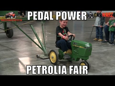 Kids Pedal Tractor Pulls At Petrolia Fair 2018