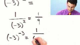 Evaluating Expressions with Negative Exponents from Thinkwell College Algebra