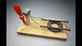 Free Energy Light Bulbs Using Magnet and Fan - new idea at