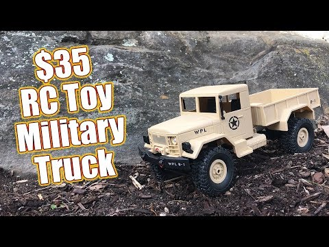 Cheap $35 4WD RC Toy Military Truck - WPL Toys B-1 Review  | RC Driver