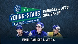 Vancouver Canucks vs Winnipeg Jets - Young Stars (Sept. 09, 2018)