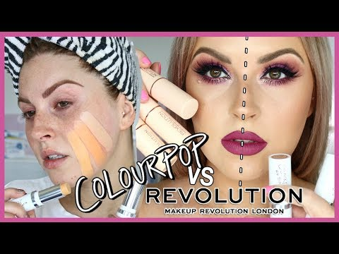 COLOURPOP VS MAKEUP REVOLUTION ? Affordable Stick Foundation!