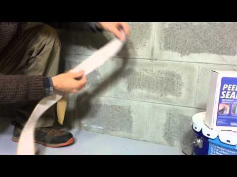 Waterproofing basements with Ames Peel & Stick Seam Tape