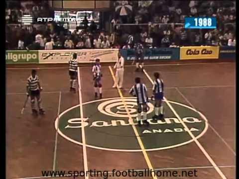 Hoquei Patins :: Porto - 4 x Sporting - 3 de 1987/1988 Final Taça de Portugal