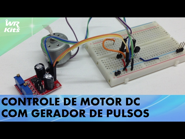 CONTROLE DE MOTOR DC COM GERADOR DE PULSOS
