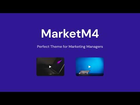 Mobirise Marketing Web Page Theme | MarketM4