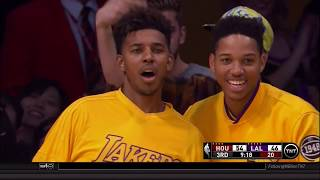 Kobe Bryant poster dunk on Clint Capela: Los Angeles Lakers vs. Houston Rockets