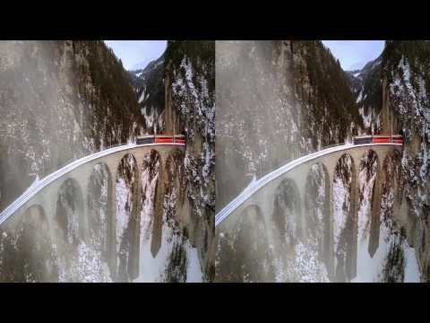 Landwasser Viaduct 3D, smallest 3D-Equipment with GoPro3+ and 3D-RIG - muviag