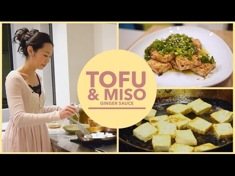 Asian Pan Fried Tofu recipe | with Miso Ginger sauce