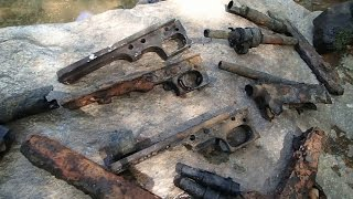 Video # 400 - Machine gun parts found in the river!