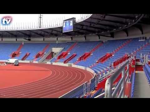 Podívejte se na Vítkovický stadion kde běhá Usain Bolt jak jej ještě nikdo neviděl !