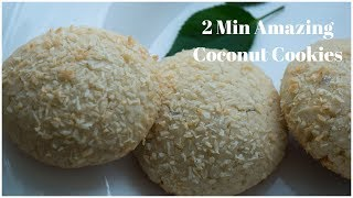 How to make indian bakery style coconut cookies in 2 min