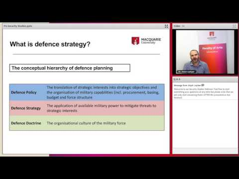 Postgraduate security studies and criminology