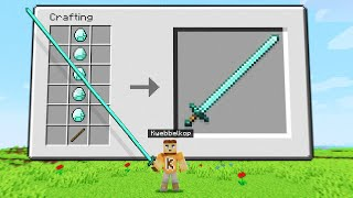 Unlocking EXTREMELY LONG WEAPONS In Minecraft!