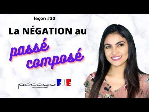 COMO hacer frases NEGATIVAS en Passé COMPOSÉ - Clase de frances 30