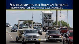 Son desalojados por Huracán Florence, hermanos viajan a estados vecinos para resguardarse.