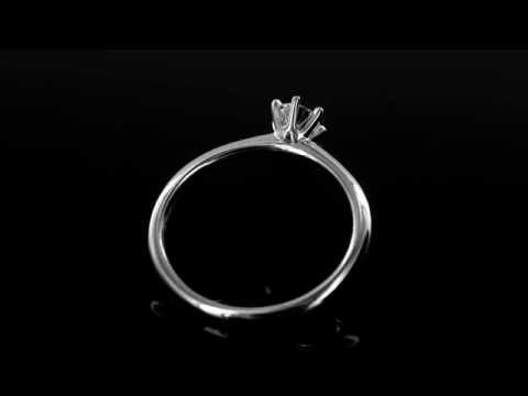 Browns Family Jewellers White Gold Diamond Solitaire Engagement Ring