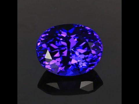 Blue Violet Oval Tanzanite Gemstone 14.63 Carats