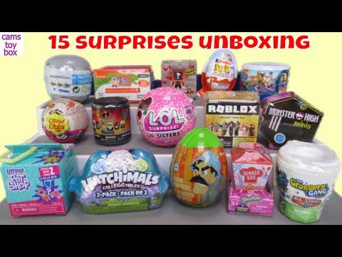Unboxing 15 Surprises Toys LOL Series 4 Incredibles 2 Paw Patrol Shopkins Trolls Roblox Kids Fun