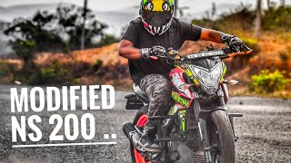 Top modified bajaj pulsar 200 ns...[ best modification ever ]