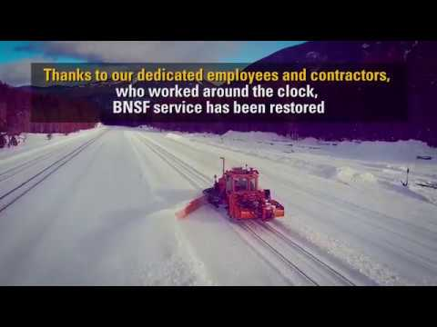 BNSF crews clear snow to restore service in Glacier National Park