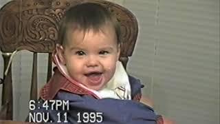 Abbey 1 year old, Jul 31, 95 Christmas 95