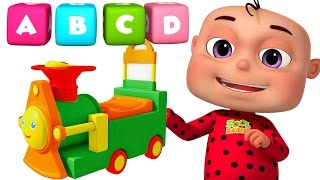 ABC Train Song For kids | Alphabet Train With Five Little Babies | Original Learning Songs