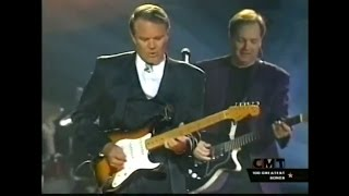 "Glen Campbell's fantastic  guitar solo on ""Galveston"""