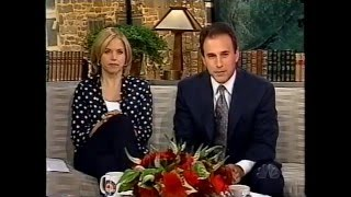May 14 2001 - NBC Today Show - Katie Couric has the hiccups