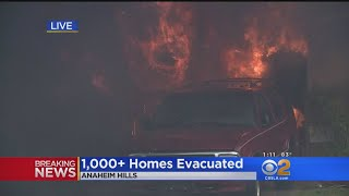Multiple Homes Burn, Evacuations Ordered In Anaheim Hills Fire