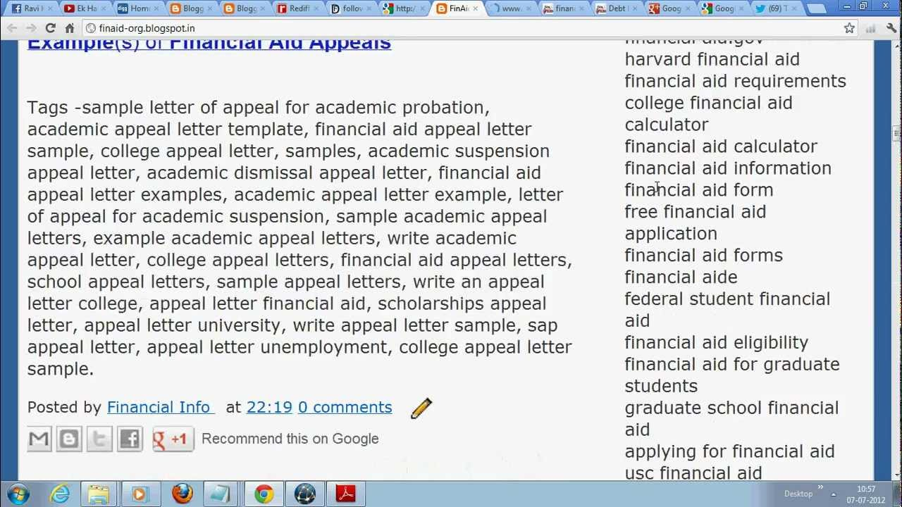 Writing an appeal letter for financial aid reinstatement appeal letter