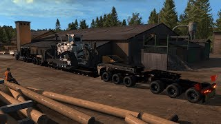 caterpillar 651b trailer american truck simulator