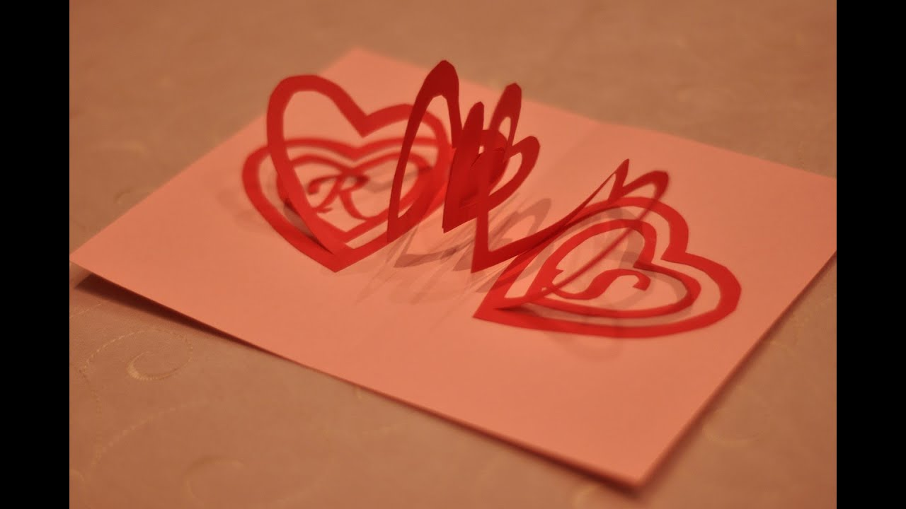 how to make a valentine's day pop up card spiral heart