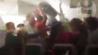 Dubai plane crash: chaotic scenes inside plane after crash-landing at Dubai airport
