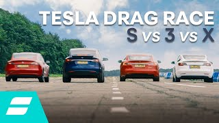 Drag Race: Tesla Model 3 vs Model S vs Model X vs Model 3 Performance